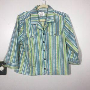 CHRISTOPHER & BANKS PETITE Striped Jacket, size PL